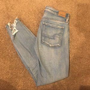 Hi waisted distressed jeans
